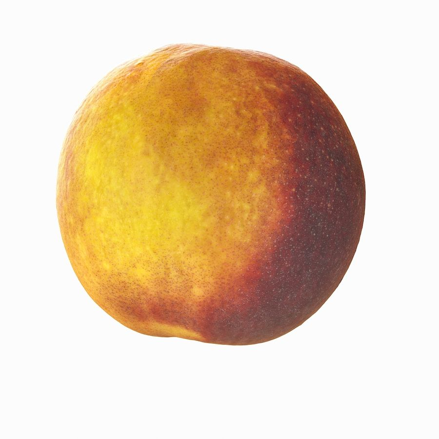 Tropical Realistic Peach royalty-free 3d model - Preview no. 8