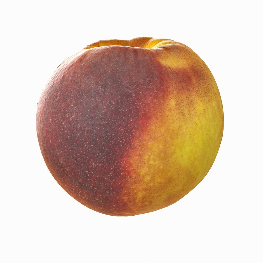 Tropical Realistic Peach royalty-free 3d model - Preview no. 4