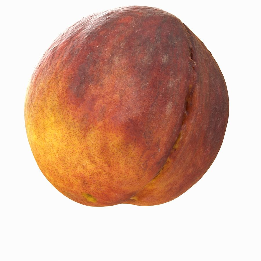 Tropical Realistic Peach royalty-free 3d model - Preview no. 5