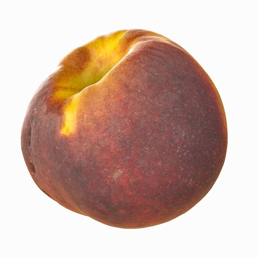 Tropical Realistic Peach royalty-free 3d model - Preview no. 7