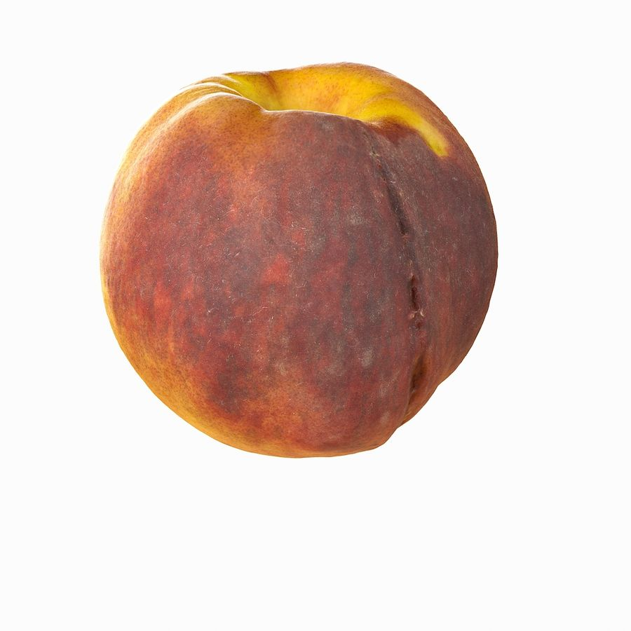 Tropical Realistic Peach royalty-free 3d model - Preview no. 12