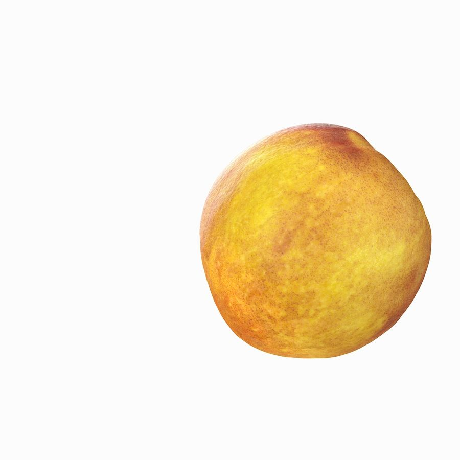 Tropical Realistic Peach royalty-free 3d model - Preview no. 10
