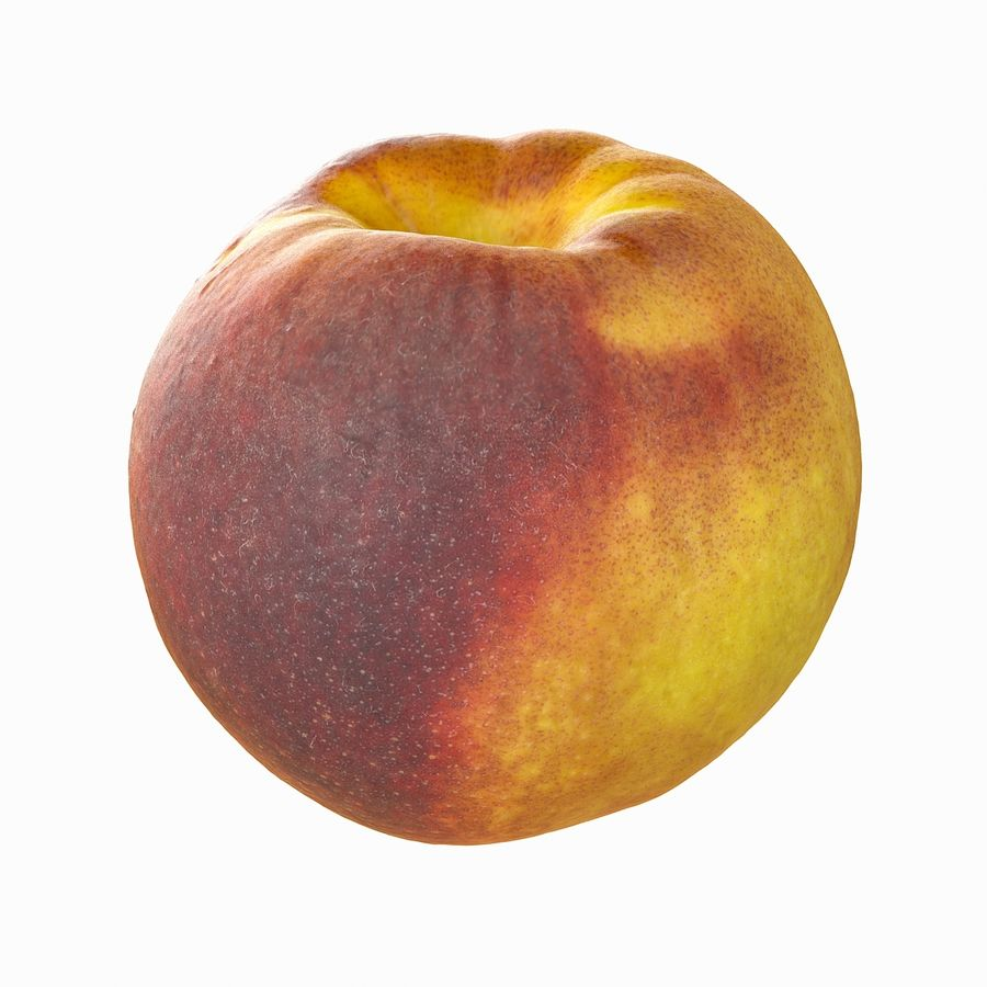Tropical Realistic Peach royalty-free 3d model - Preview no. 15