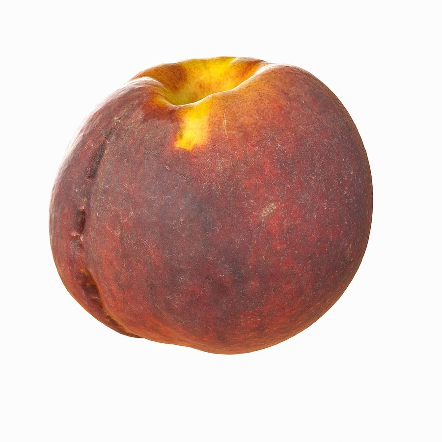 Tropical Realistic Peach royalty-free 3d model - Preview no. 3