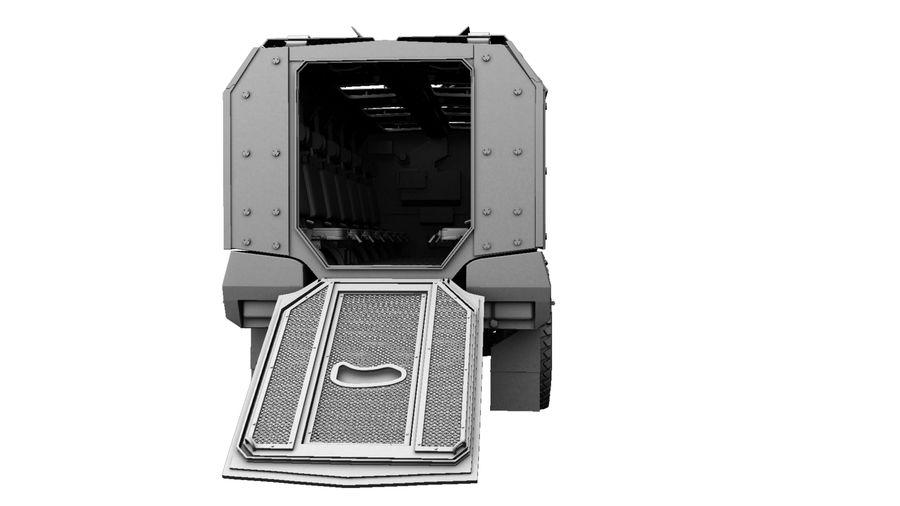 Камаз Тайфун royalty-free 3d model - Preview no. 15