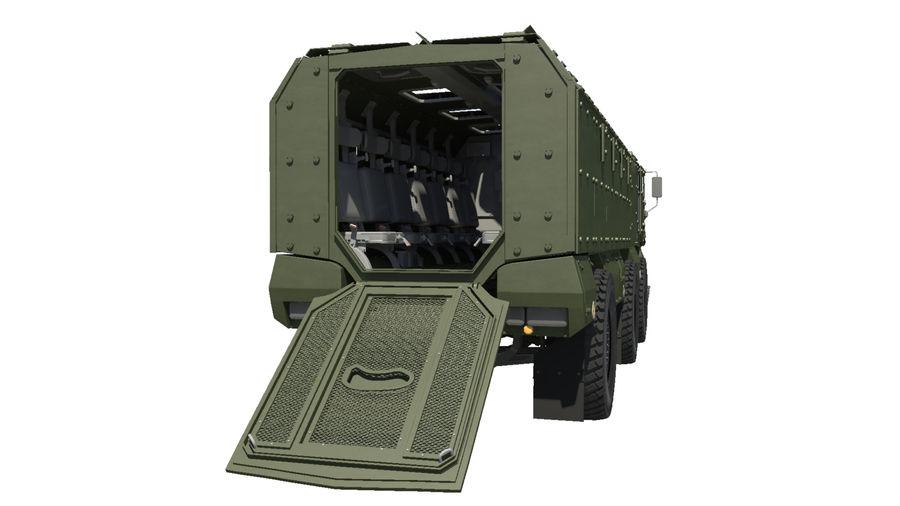 Камаз Тайфун royalty-free 3d model - Preview no. 8