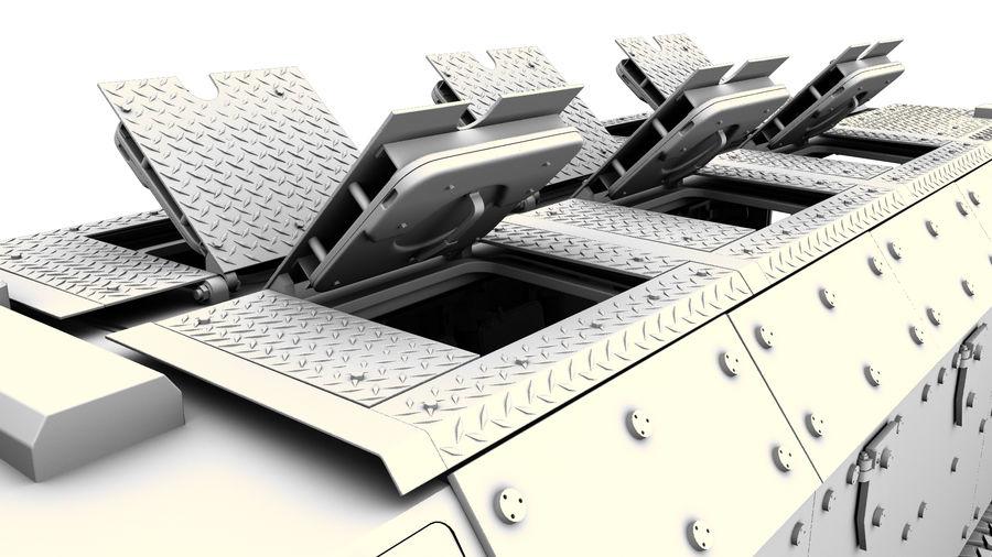 Камаз Тайфун royalty-free 3d model - Preview no. 12