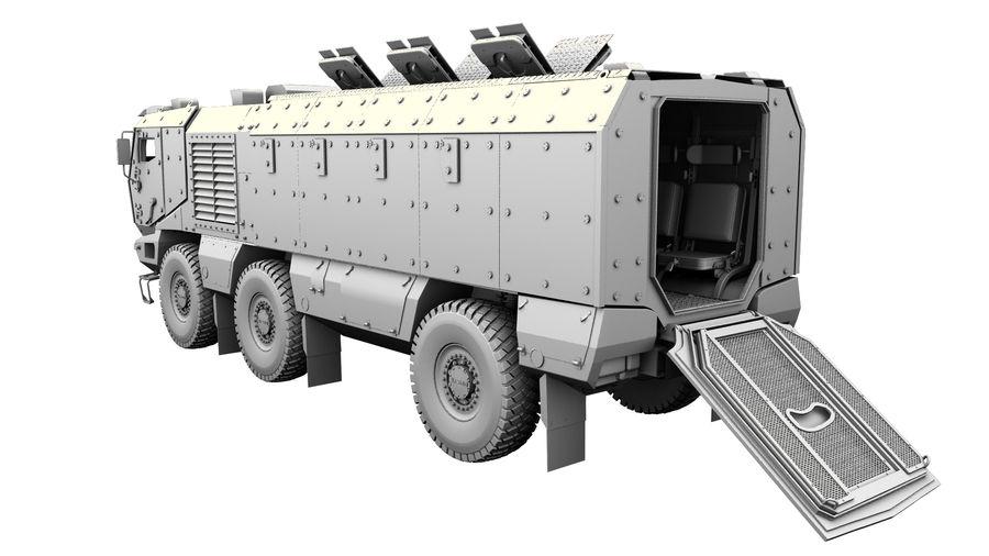 Камаз Тайфун royalty-free 3d model - Preview no. 10