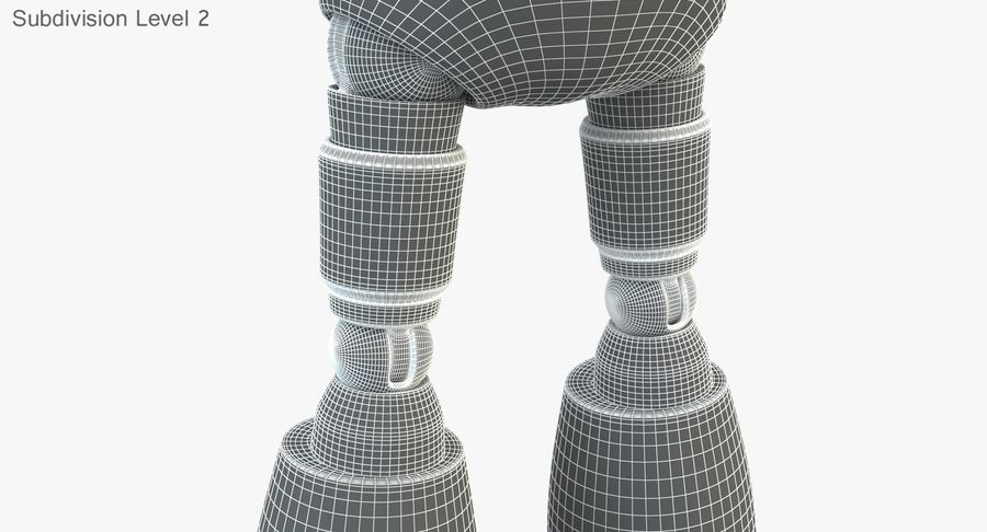 ROBOT(1) royalty-free 3d model - Preview no. 20