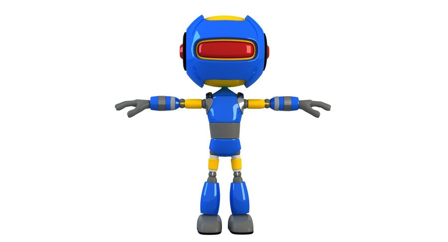 ROBOT(1) royalty-free 3d model - Preview no. 3