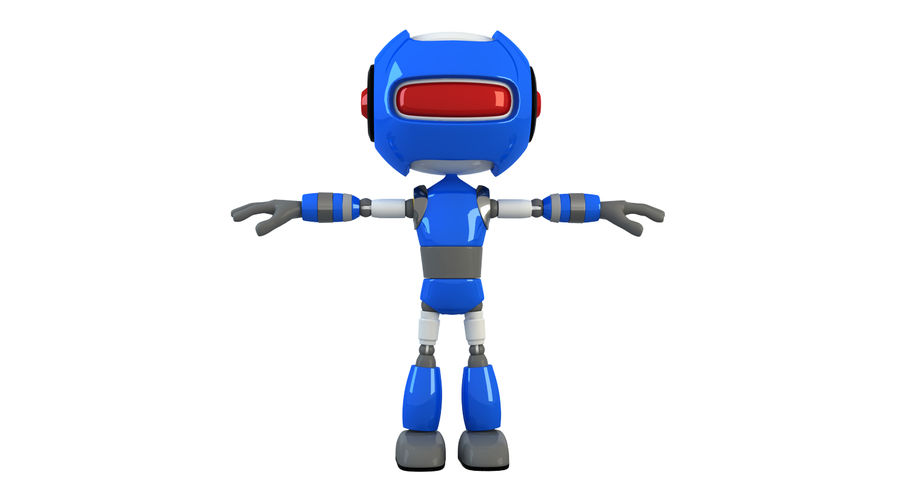 ROBOT(1) royalty-free 3d model - Preview no. 4