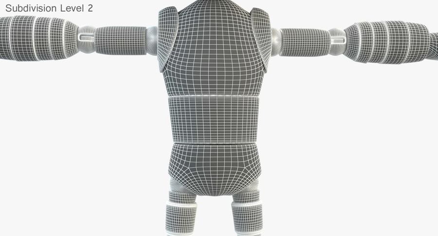 ROBOT(1) royalty-free 3d model - Preview no. 16
