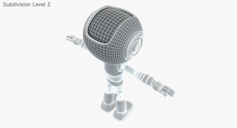 ROBOT(1) royalty-free 3d model - Preview no. 17