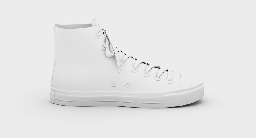 Converse All Star Sneakers ( Red ) royalty-free 3d model - Preview no. 12