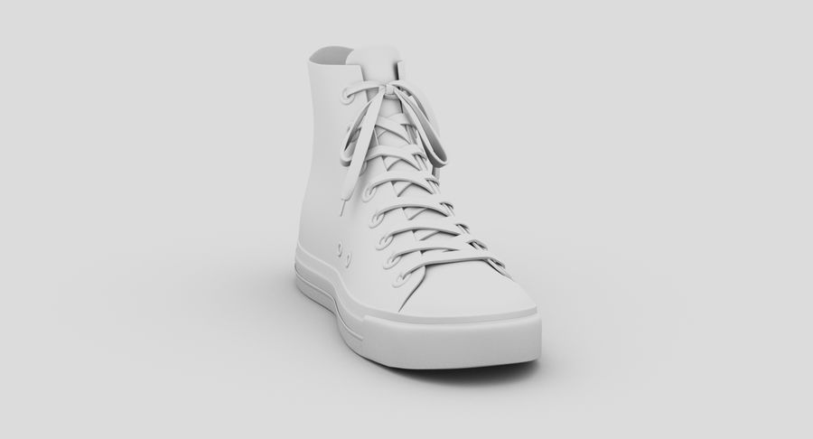 Converse All Star Sneakers ( Red ) royalty-free 3d model - Preview no. 13