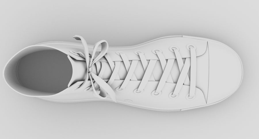 Converse All Star Sneakers ( Red ) royalty-free 3d model - Preview no. 16