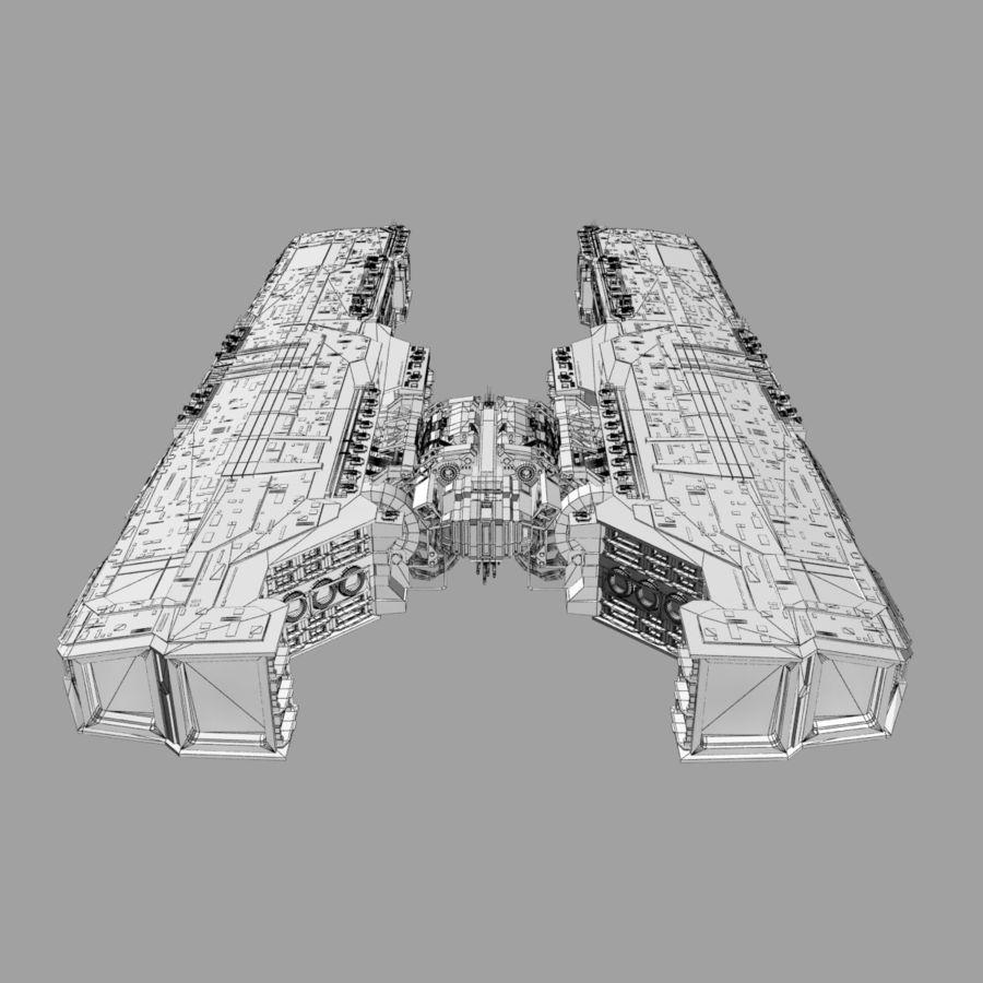 Большой космический корабль 2 - Sci Fi футуристический HD космический корабль (1) royalty-free 3d model - Preview no. 13