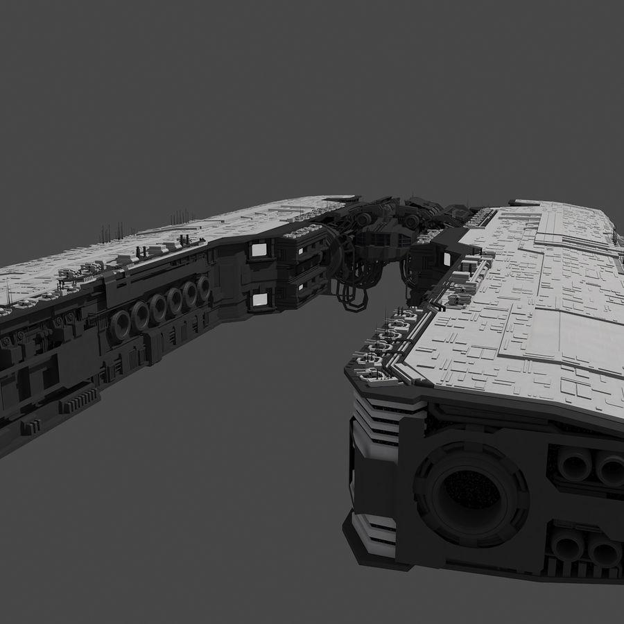 Большой космический корабль 2 - Sci Fi футуристический HD космический корабль (1) royalty-free 3d model - Preview no. 7