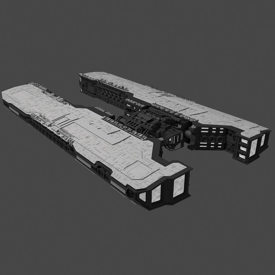 Большой космический корабль 2 - Sci Fi футуристический HD космический корабль (1) royalty-free 3d model - Preview no. 8