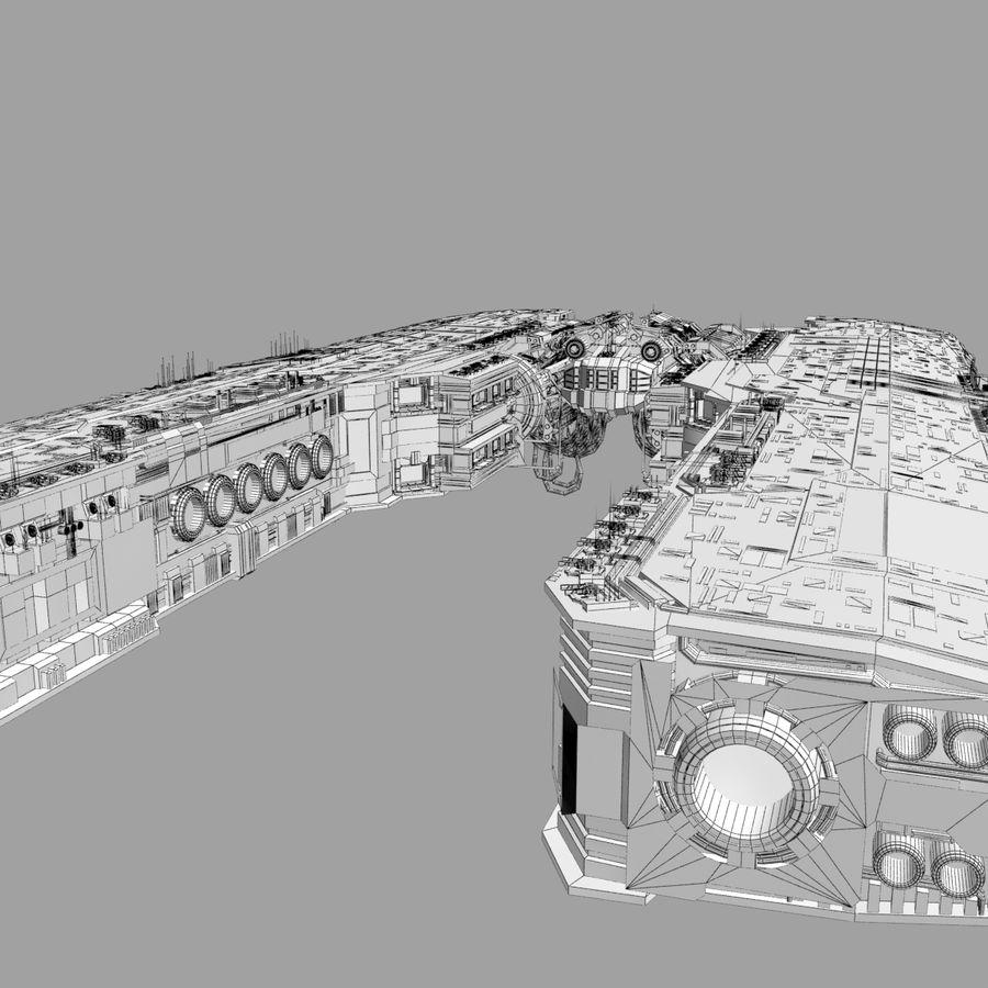 Большой космический корабль 2 - Sci Fi футуристический HD космический корабль (1) royalty-free 3d model - Preview no. 12