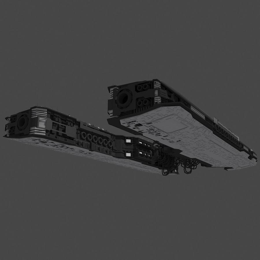 Большой космический корабль 2 - Sci Fi футуристический HD космический корабль (1) royalty-free 3d model - Preview no. 9