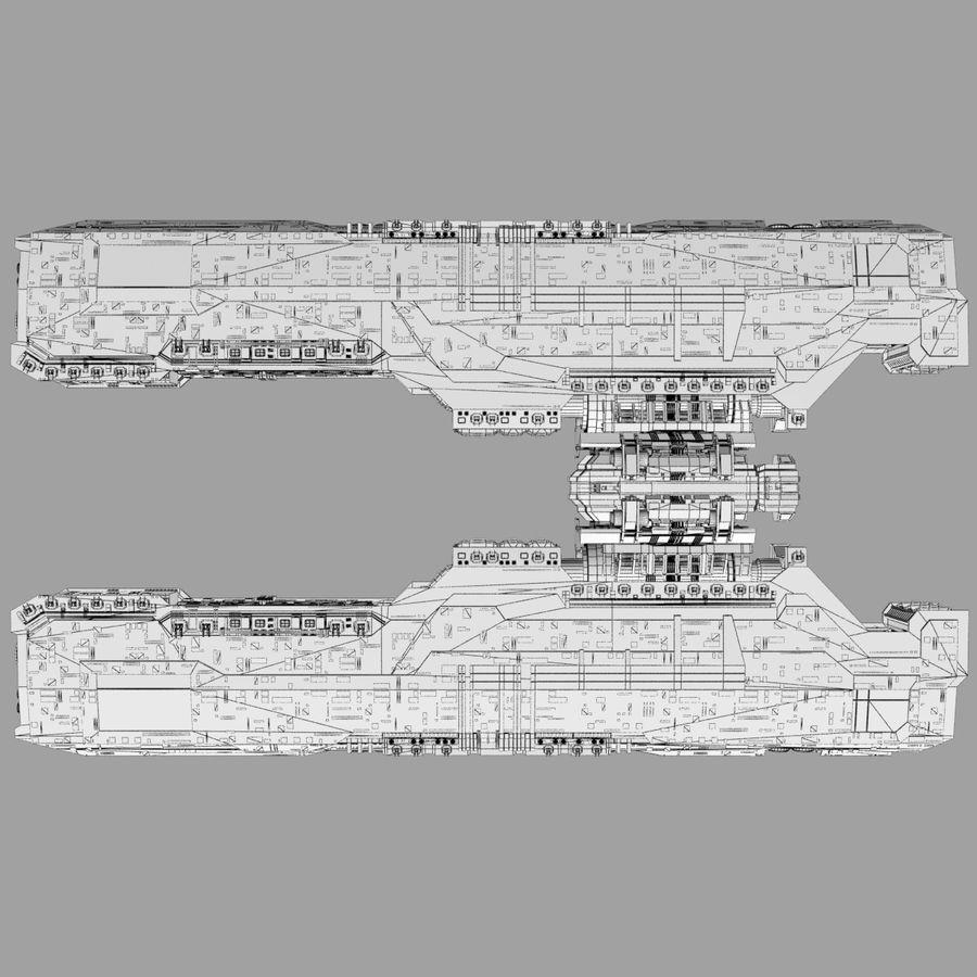 Большой космический корабль 2 - Sci Fi футуристический HD космический корабль (1) royalty-free 3d model - Preview no. 14