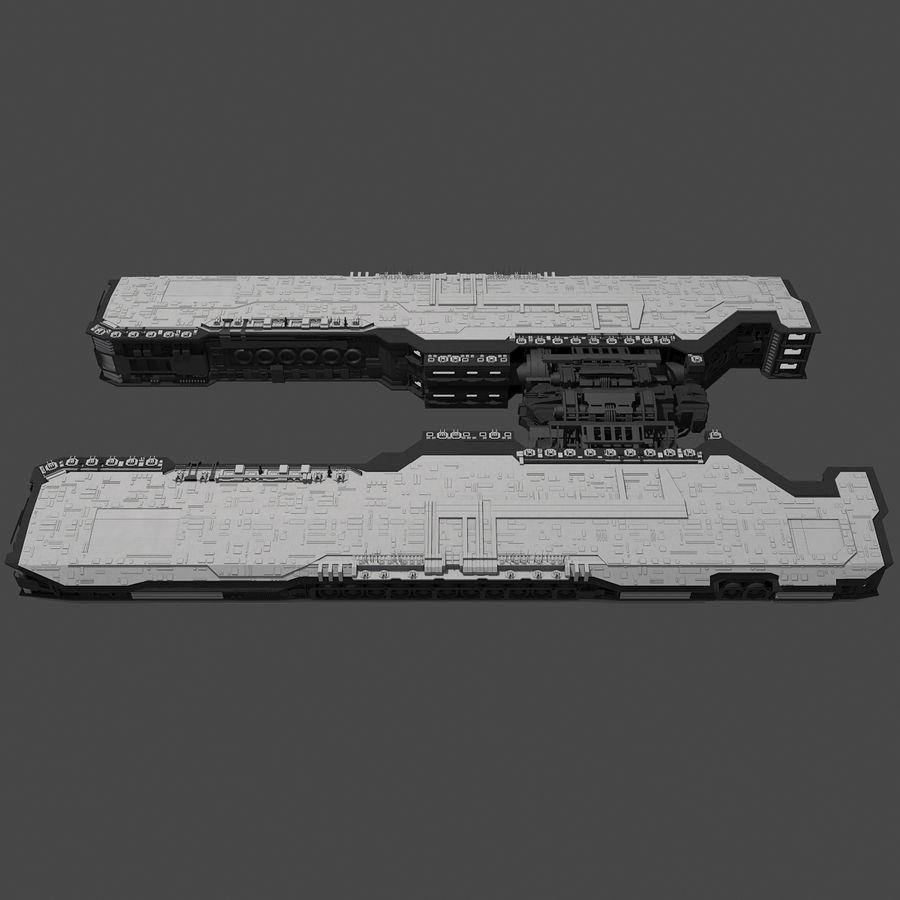Большой космический корабль 2 - Sci Fi футуристический HD космический корабль (1) royalty-free 3d model - Preview no. 4