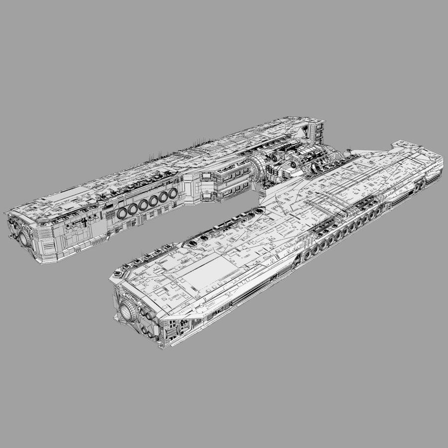 Большой космический корабль 2 - Sci Fi футуристический HD космический корабль (1) royalty-free 3d model - Preview no. 10