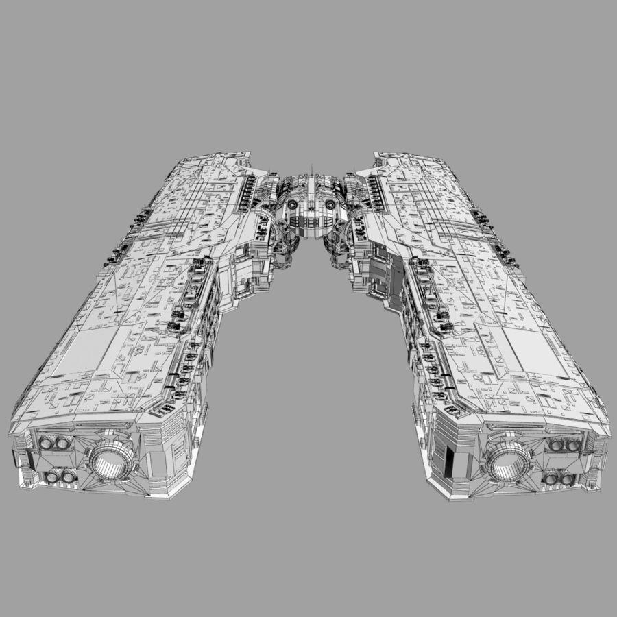 Большой космический корабль 2 - Sci Fi футуристический HD космический корабль (1) royalty-free 3d model - Preview no. 11