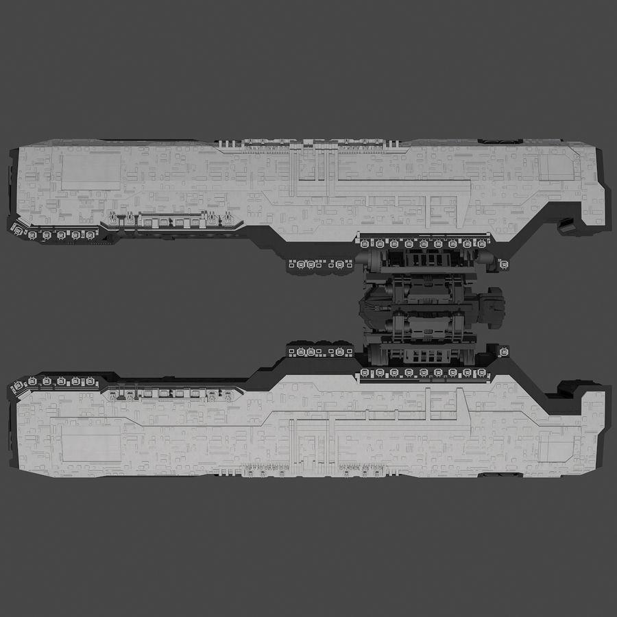 Большой космический корабль 2 - Sci Fi футуристический HD космический корабль (1) royalty-free 3d model - Preview no. 6