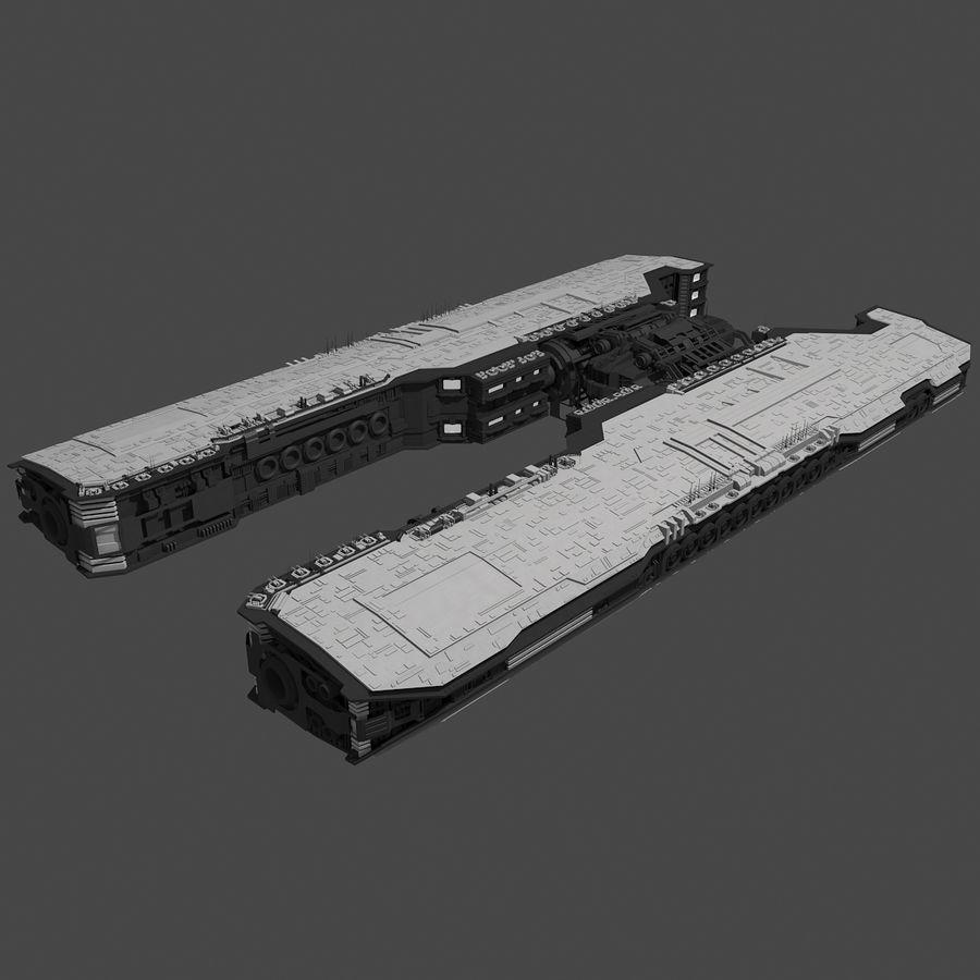 Большой космический корабль 2 - Sci Fi футуристический HD космический корабль (1) royalty-free 3d model - Preview no. 2