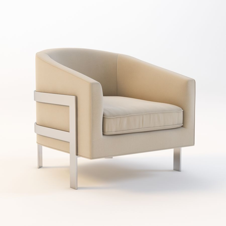 Mitchell Gold Bob Williams Avery Silla royalty-free modelo 3d - Preview no. 2