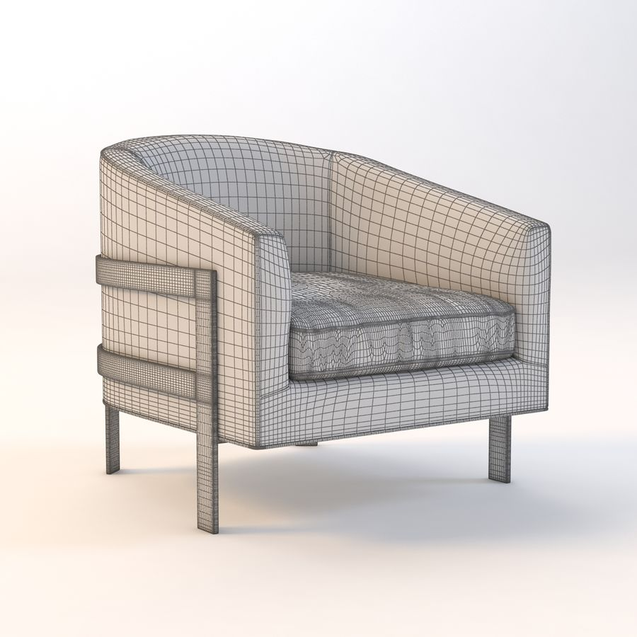 Mitchell Gold Bob Williams Avery Silla royalty-free modelo 3d - Preview no. 4