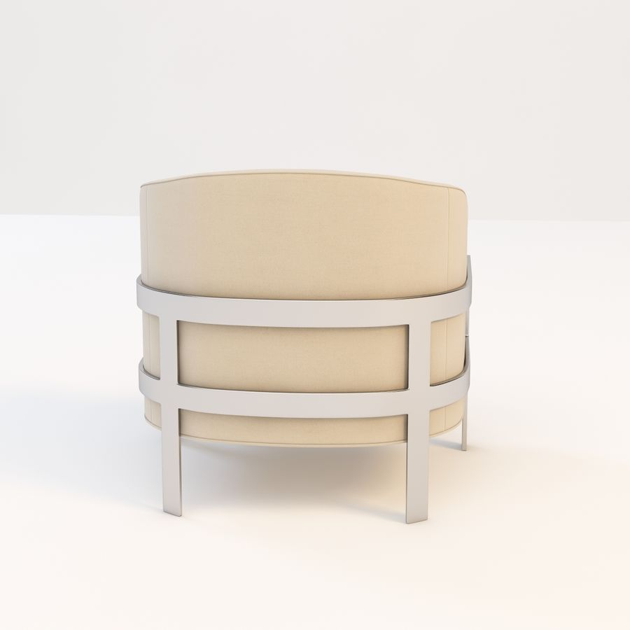 Mitchell Gold Bob Williams Avery Silla royalty-free modelo 3d - Preview no. 9