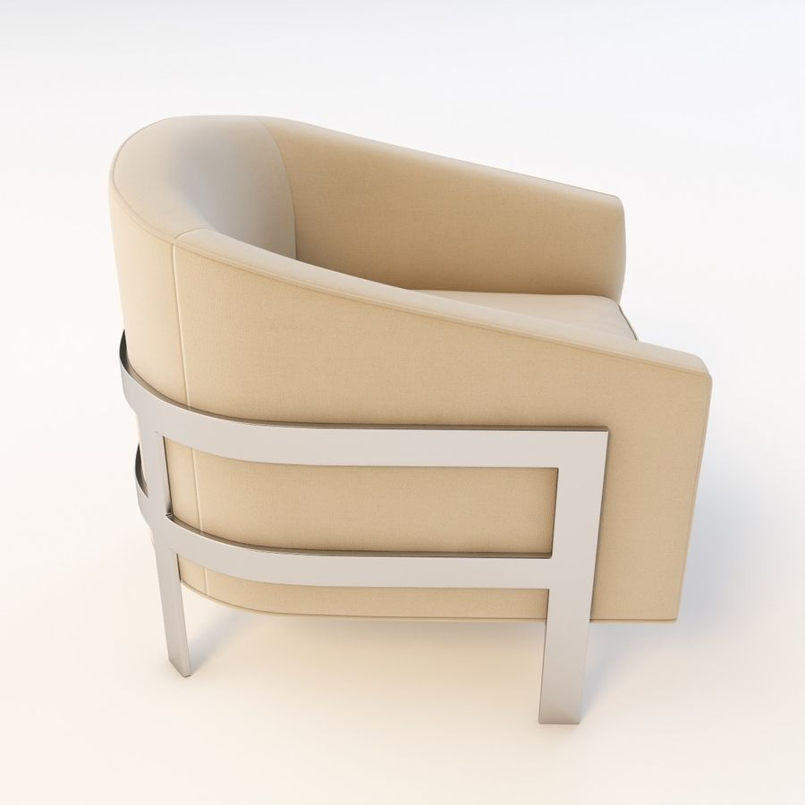 Mitchell Gold Bob Williams Avery Silla royalty-free modelo 3d - Preview no. 5