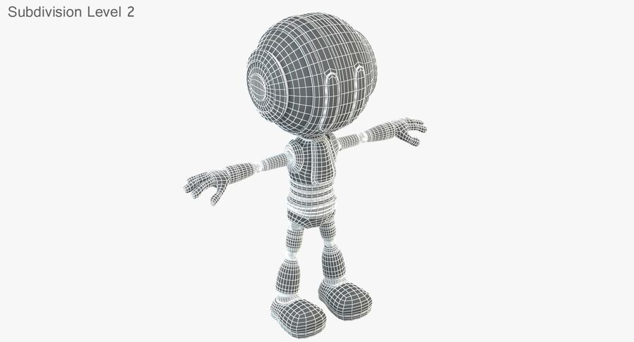 ROBOT(1) royalty-free 3d model - Preview no. 22