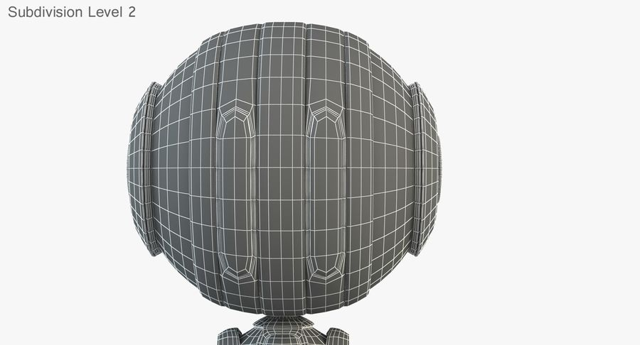 Robot (1) royalty-free 3d model - Preview no. 20