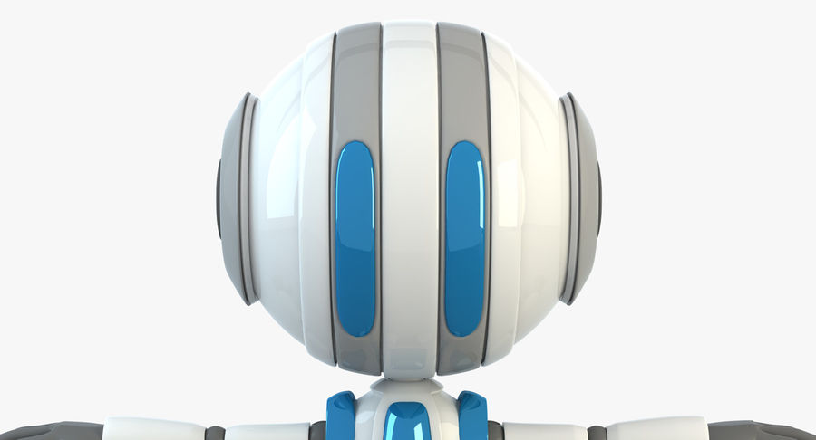 Robot (1) royalty-free 3d model - Preview no. 5