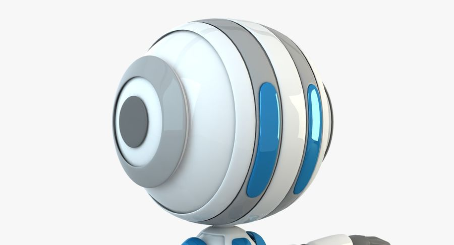 Robot (1) royalty-free 3d model - Preview no. 7