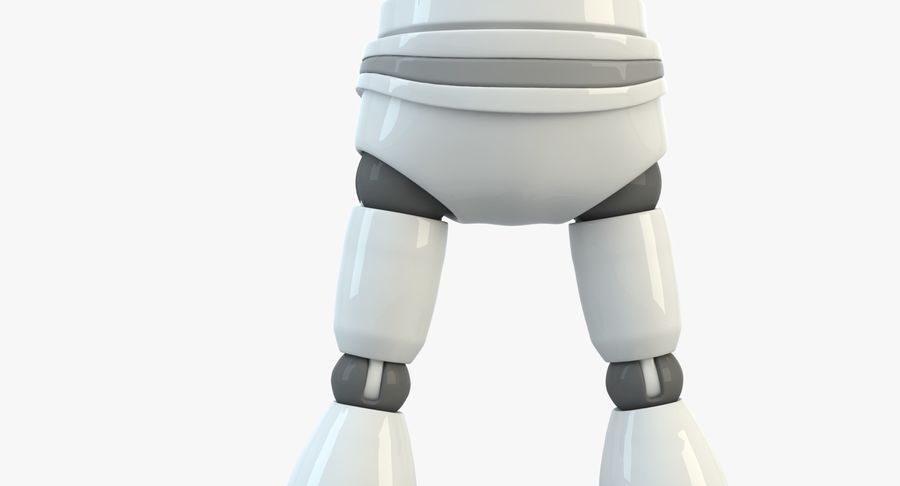 Robot (1) royalty-free 3d model - Preview no. 6