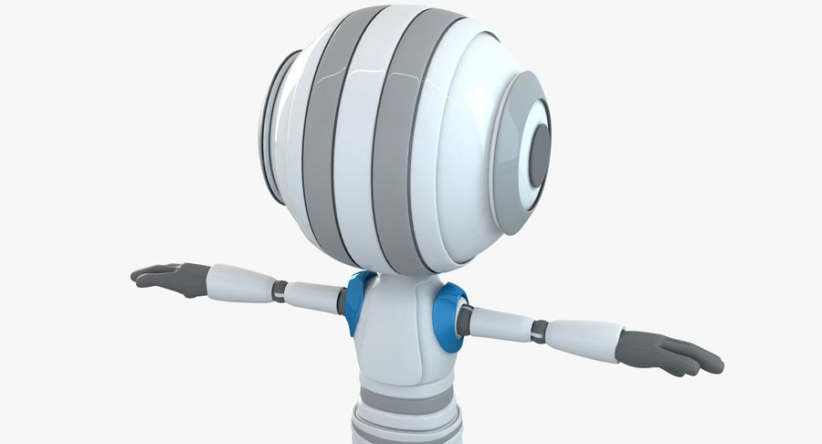 Robot (1) royalty-free 3d model - Preview no. 8
