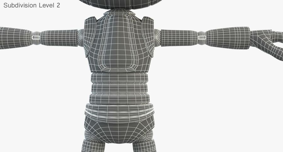 Robot (1) royalty-free 3d model - Preview no. 23