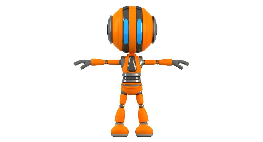 Robot (1) royalty-free 3d model - Preview no. 4