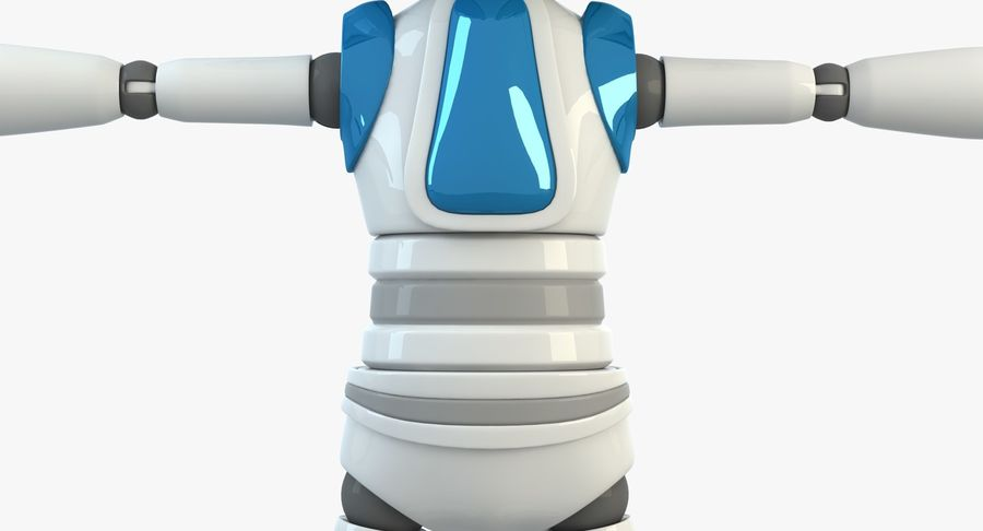 Robot (1) royalty-free 3d model - Preview no. 3