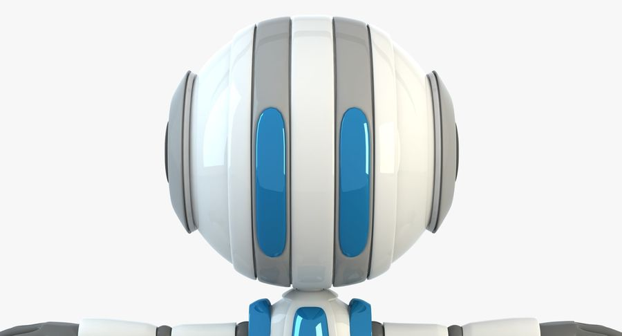 ROBOT(1) royalty-free 3d model - Preview no. 5