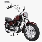 Motocicleta modelo 3d