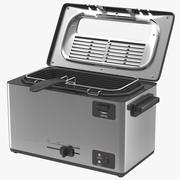Electric Single Tank Deep Fryer 3d model