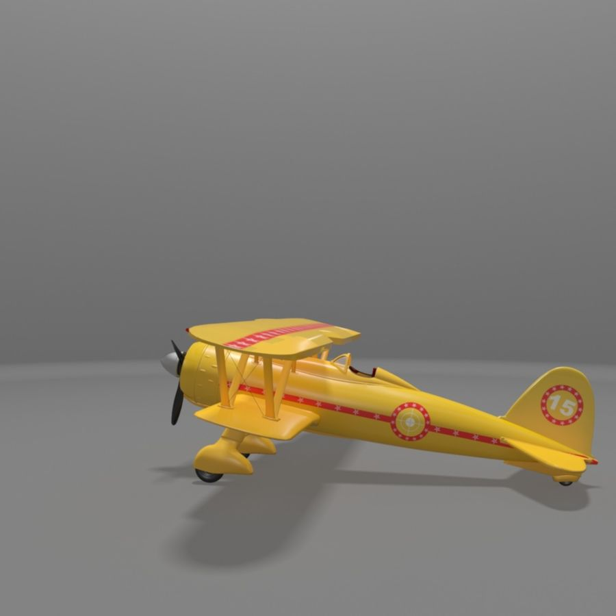 Fiat CR42 Falco Fighter Bi-Plane royalty-free 3d model - Preview no. 12