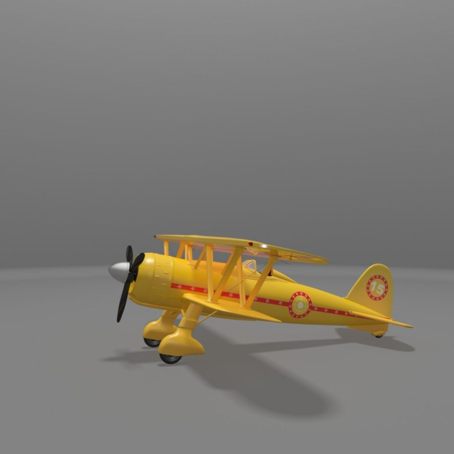 Fiat CR42 Falco Fighter Bi-Plane royalty-free 3d model - Preview no. 11