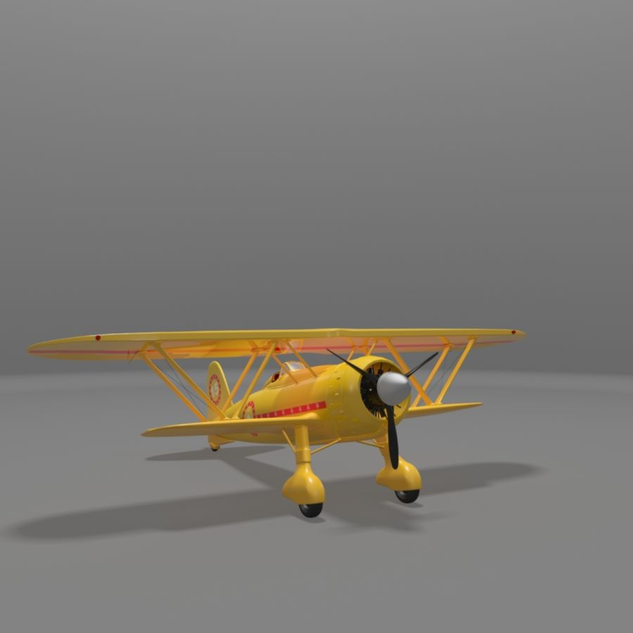 Fiat CR42 Falco Fighter Bi-Plane royalty-free 3d model - Preview no. 1